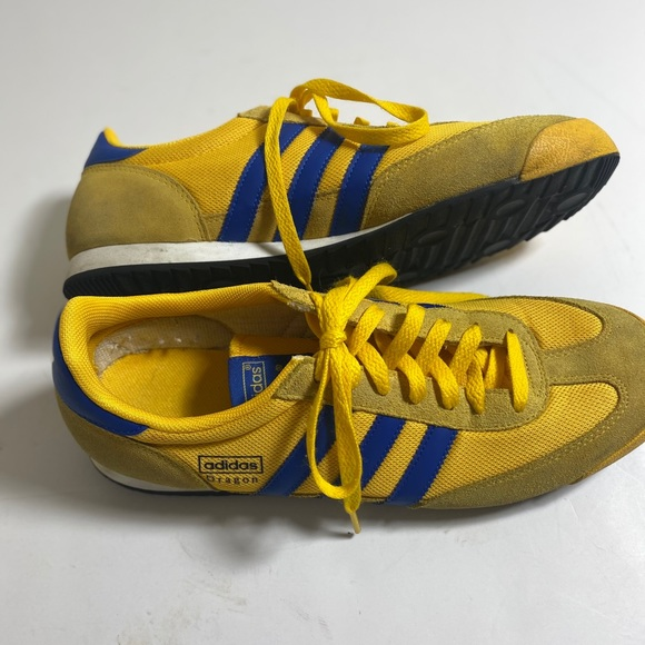 Mens Adidas Dragon Size 11 Yellow And Blue